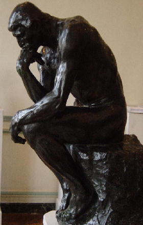 The Thinker Puzzles Over The Pearls of Wisdom